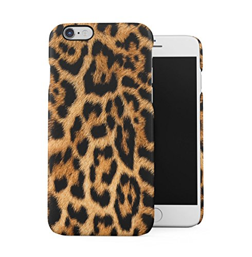 Leopard Fur Pattern Dünne Handy Schutzhülle Hardcase Aus Hartplastik Hülle für iPhone 6/iPhone 6S Handyhülle Case Cover (6 Leopard)