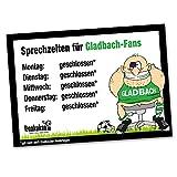 Büro-Abwehrschild Gladbach | Schützt den Arbeitsplatz von FC Köln-, Fortuna Düsseldorf- & Allen Fußball-Fans vor verirrten Gladbach-Fans | Öffnungszeiten Sprechzeiten-, Eingangs- & Tür-Schild