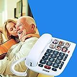 Alcatel TMAX 10 - Kabelgebundenes Telefon für Senioren, Weiß
