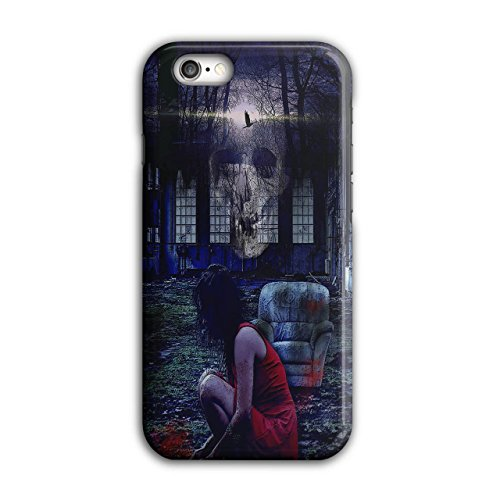 Kostüm Asyl Joker (Mädchen schaurig Schädel Horror Geist Dame iPhone 6 / 6S Hülle |)