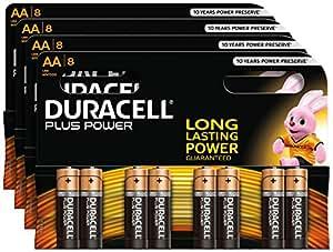 Duracell Plus Power piles alcalines AA (MN1500 / LR06) 32 pièces