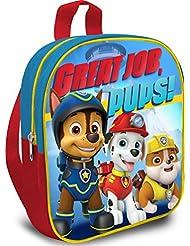 Paw Patrol Rucksack Great Job, Pups! Kindergarten-Tasche Die Hundepolizei Kinder Tasche Marshall Rubble & Chase Backpack