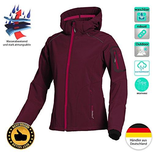 bbd9dd7a7846 Softshell Outdoor Jacke CMP für Damen mit Fleece-Innenausstattung und Kapuze,  in vielen Farben ...