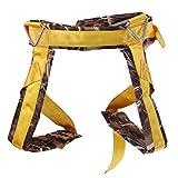 MagiDeal Kids Bungee Harness - Kinder Trampolin Bungee Gepolsterte Sitzgurt, Hüftgurt - Kinder Trampolin Zubehör - Tarnung Gelb