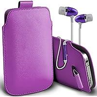 Fone-Case (Light Purple) Alcatel Fierce 4 alta qualità in pelle