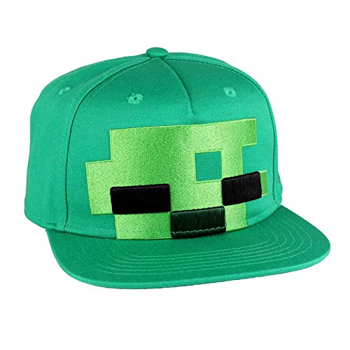 5ad7394c9d5 Minecraft Baseball Cap Zombie Head Logo Gamer Official Green Snapback One  Size