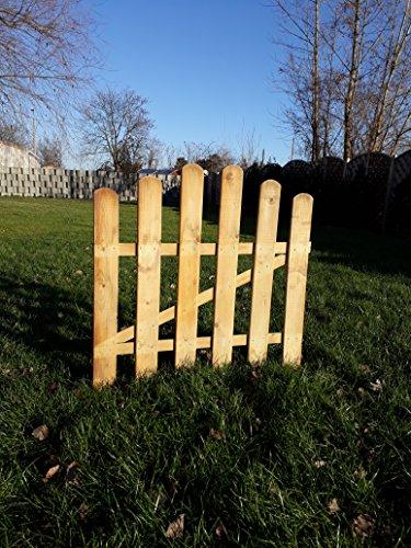 Staketenzaun-Gartentor Komplettset aus