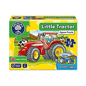 Orchard Toys Little Tractor - Puzle de Doble Cara (12 Piezas), diseño de Tractor