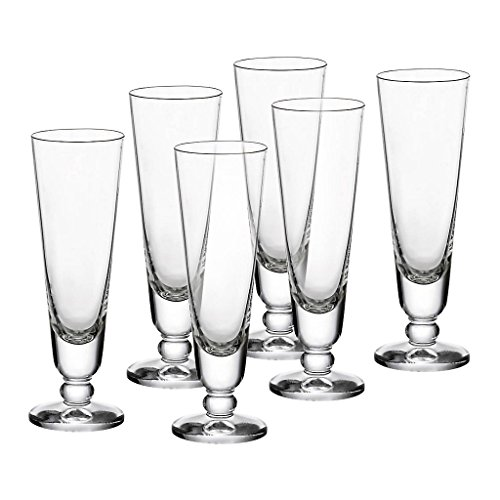 "6 x Schnapsglas, Likörglas ""AUE"" 4 cl, H=12 cm, Glas im modernem Style (FAN UNIKATE powered by CRISTALICA)"