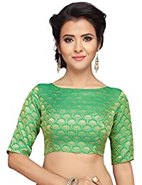 143fa4bf03f52 Amazon.in  Greens - Blouses   Ethnic Wear  Clothing   Accessories