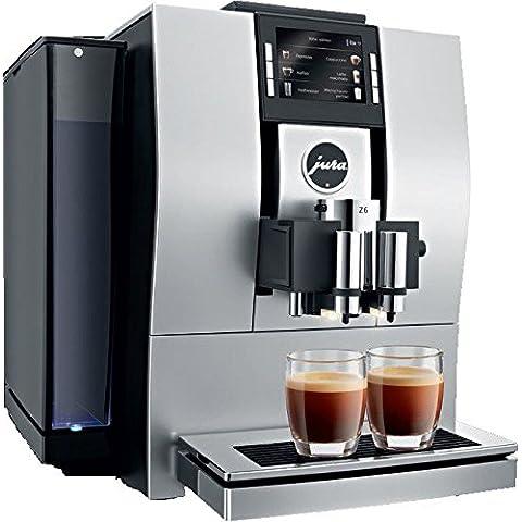 Jura Z6 Aluminium Combi coffee maker 2.4L 20tazas Almendra, Negro - Cafetera (Independiente, Totalmente automática, Combi coffee maker, Granos de café, De café molido, Almendra, Negro, Tocar)