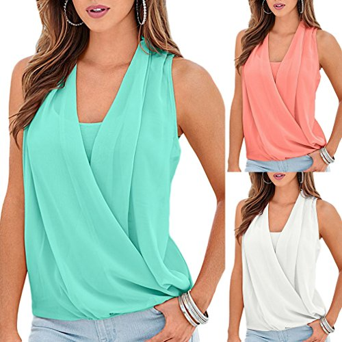 COMVIP -  T-shirt - Basic - Senza maniche  - Donna Pink