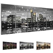 Bilder 200 x 80 cm - Frankfurt am Main Bild - Vlies Leinwand - Kunstdrucke -Wandbild - XXL Format - mehrere Farben und Größen im Shop - Fertig Aufgespannt !!! 100% MADE IN GERMANY !!! - 600855b