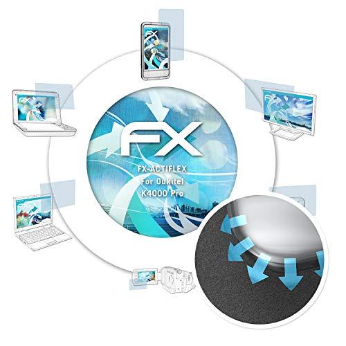 atFolix Schutzfolie passend für Oukitel K4000 Pro Folie, ultraklare & Flexible FX Bildschirmschutzfolie (3X)