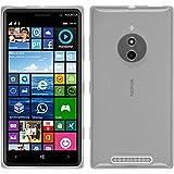 PhoneNatic Case für Nokia Lumia 830 Hülle Silikon weiß, transparent + 2 Schutzfolien