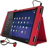 iGadgitz U2881 funda para tablet - fundas para tablets (Folio, Rojo, cuero PU, Sony, Xperia Z2 SGP511, Resistente a rayones)