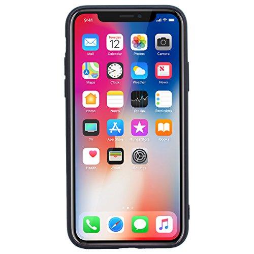 Yokata iPhone 8 Hülle Weiche Silikon Handyhülle 3D Motiv Schutzhülle TPU Handy Tasche Schale Etui Weich Silicone Bumper Ultra Dünn Slim Schlank Matt Handytasche Premium Kratzfest Soft Flexible Clear B Mond und Zähne