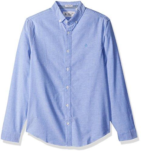 Original Penguin Men's New Long Sleeve Oxford Stretch Button Down Shirt