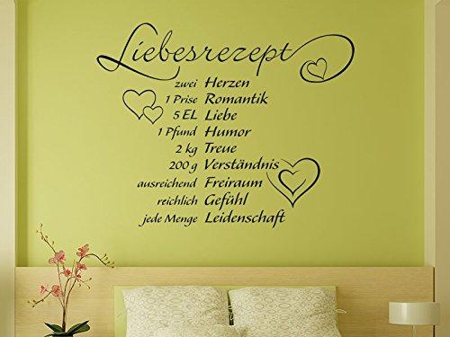 Klebeheld® Wandtattoo Liebesrezept No.2 (Farbe rot/Größe 75x60cm)