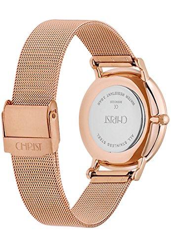 CHRIST times Damen-Armbanduhr Analog Quarz One Size, weiß, rosé - 3