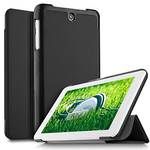 IVSO Acer ICONIA ONE 7 B1-7A0 Hülle, Ultra Schlank Ständer Slim Leder zubehör Schutzhülle perfekt geeignet für Acer ICONIA ONE 7 B1-7A0-K17V Tablet PC, Schwarz