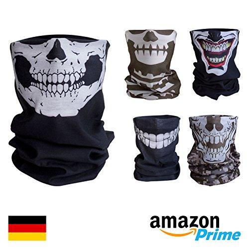 Preisvergleich Produktbild Qualitatives Multifunktionstuch / Motorrad Totenkopf Maske / Face Shield / Sturmmaske - fürs Fahrrad / Ski / Snowboard / Paintball / Klettern / Wandern - [Totenkopf / schwarz]
