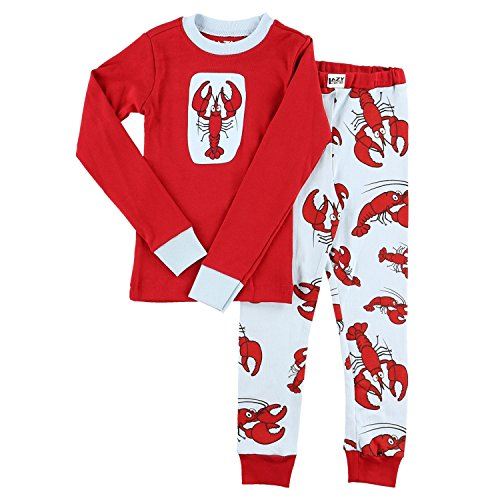Lazy One LazyOne Unisex Lobster Kids PJ Set Long Sleeves