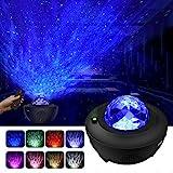 Baby : LBell ternenhimmel LED Projektor Sternenhimmel Lampe mit Fernbedienung Starry Stern Mond/Wasserwellen-Welleneffekt/Bluetooth Lautsprecher Perfekt für Party Weihnachten Ostern Halloween (schwarz)