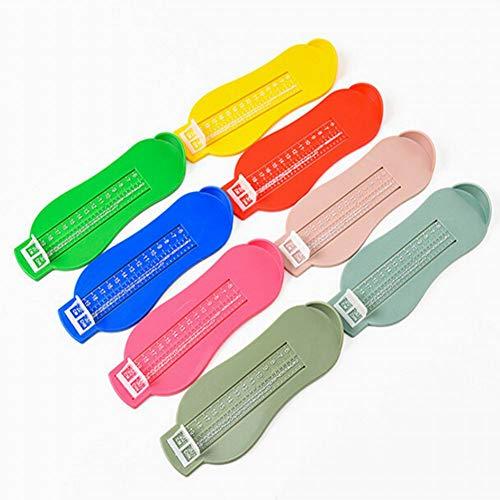 housesweet Baby Fuß Herrscher Kinder Fuß Länge Messgerät Kleinkind Infant Schuhe Beschläge Werkzeug (zufällige farbe)