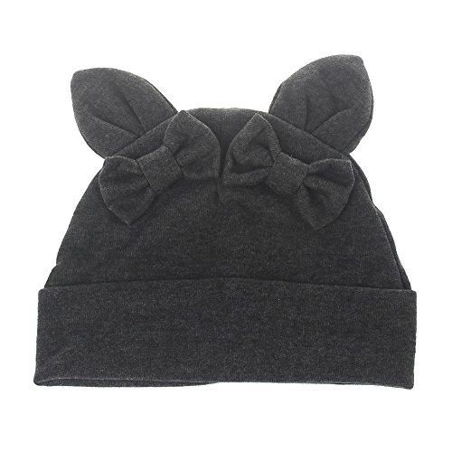 Kleinkind Schlafen Deckel, Quaan Baby Mädchen Jungs Bowknot Hase Ohren Baumwolle Kopfbedeckungen ()
