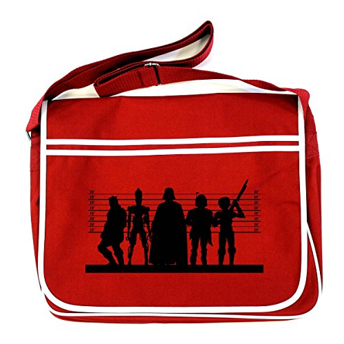 Arcane Store STAR WARS: DARK SIDE SUSPECTS Retro Messenger Bag (One Size Fits All/Red)