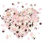 MIZOMOR Confeti Rosa para Bodas 2.5 cm Papel de Seda Confeti de Mesa Decorados para Fiestas Bautizo de bebe Ceremonia de graduación