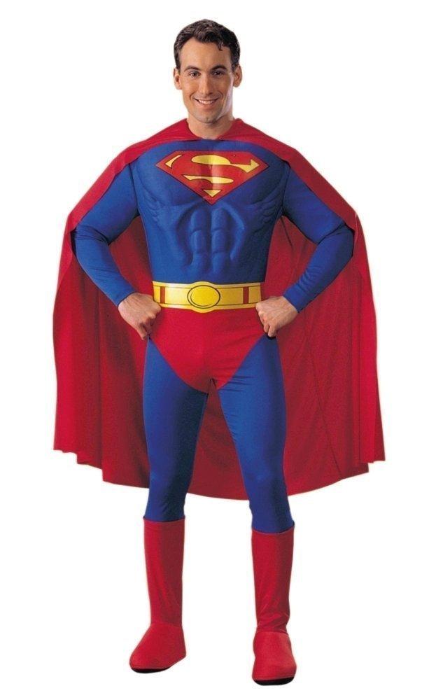 Superman Kostüm Superheld Clark Kent DC Comic Held für Herren