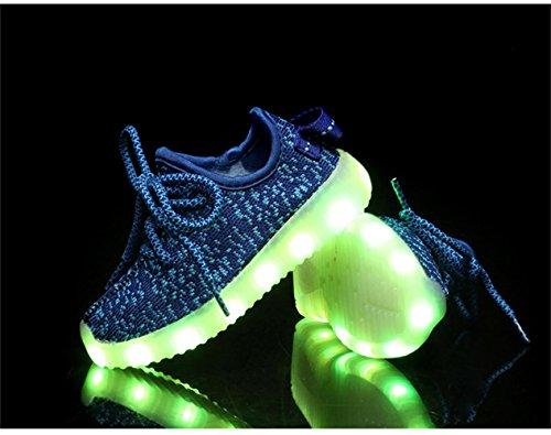 Neue Eu 25 jojo Laufschuhe Outdoor Kinder Usb Blinken Unisex Mode 37 Farbe Led Sneakers Kokosnuss Für Laden jayce Blau 5Axadn45