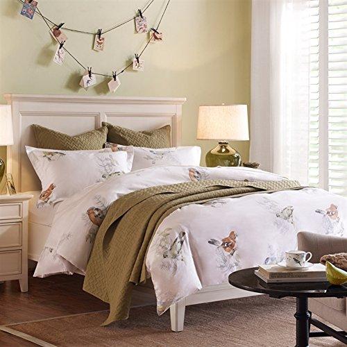 Amerikanische Bettwäsche Vier Sets Baumwollbettwäsche Vier Sätze Von(1 Steppdecke 1 Blatt 2 Kissen-)-A Queen2 (Amerikanische Kinder Bettwäsche)