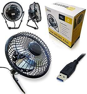 Ventilatore da tavolo con presa usb nero per pc laptop netbook apple macbook imac amazon - Ventilatore da tavolo usb ...
