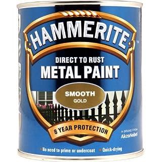 Hammerite SFGO750 750ml Direct to Rust Smooth Finish - Gold
