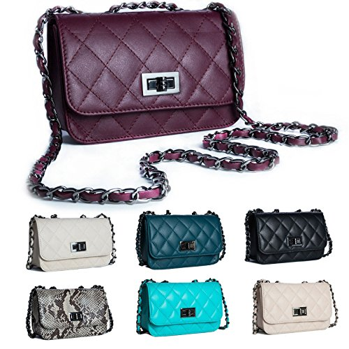 Big Handbag Shop, Poschette giorno donna Marrone (Snake Brown)