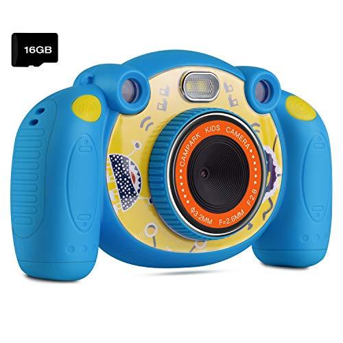 """Campark Digital Kamera für Kinder HD Kinderkamera 2.0\"""" Farbdisplay Mini Action Camcorder Camera, Spielzeug und Geschenk für Kinder (Blau)"""