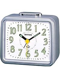Rhythm Silver sqaure Basic bell alarm clokcs 10x12x8Cm