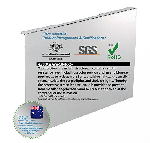 Fiara anti-blue Light Bildschirm Filter–55,9cm Zoll (passt zu die meisten 55,9cm Zoll LED/LCD Desktop Monitore W510X H330x D45mm; Filter Stärke 2.0mm); bewiesen, Schutz Ihrer wertvollen Vision von INNOVATION Patent Australien zertifiziert & von Australian unabhängigen Test Behörde; speziell zu Filter bis zu 99,99% der schädlichen-hellblau und UV (380NM ~ 480Nm) von Lichtquellen in Arbeiten und Wohnen.