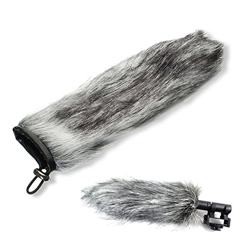 Hex New Fell Furry Shotgun Mikrofon Windschutzscheibe Cover Wind Muff passgenau Rode 15cm Mikrofon (Cover Shotgun)