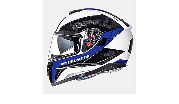61-62 cm Blue//Grey MT Modular Flip Up Helmet ATOM SV TRANSCEND E7 Blue//Grey with PINLOCK Included XL