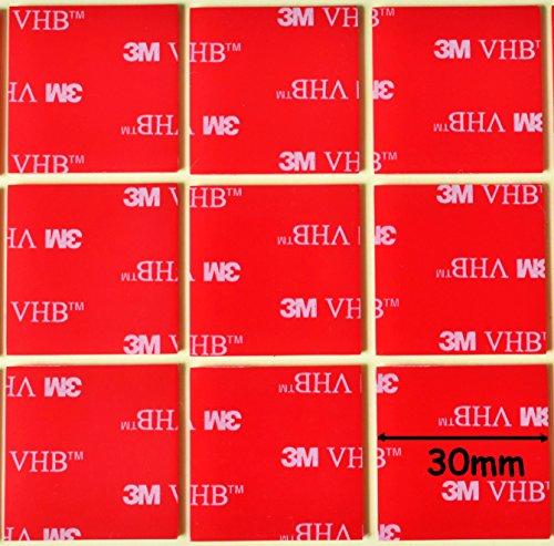 double-face-3-m-vhb-acrylique-transparent-carre-de-30-mm-x-30-mm-x-1-mm-depaisseur-resistant-aux-int