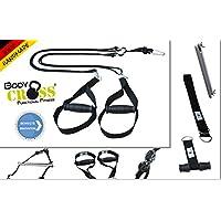 BodyCROSS Premium Schlingentrainer mit Zertifikat (InBuB-Siegel)   Abnehmbare Griffe   inkl. Übungsposter, Trainingsplan, Türanker, Befestigungsschlaufe   Made in Germany   10 Jahre Garantie
