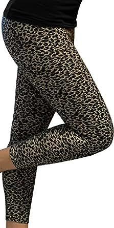 2 x Kuschelig weiche Damen Leggins / weiches Material / Schön warm ! Farbe Leopard/Lila Größe XL/XXL