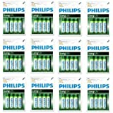 "Lot de 48 Philips Piles de Zinc-Carbone ""Long Life"" Piles AA, 1.5V Neuves Sous Blisters !!!"