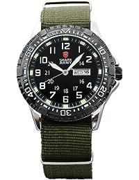 SHARK ARMY SAW020 - Reloj Hombre de Cuarzo, Correa de Nyl¨®n Verde,