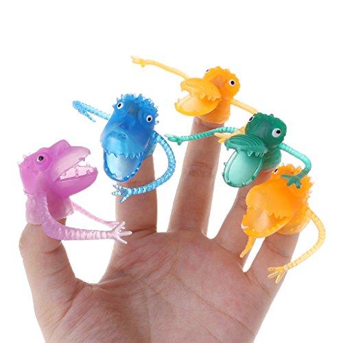 Kunststoff, Dinosaurier-Finger, Mehrfarbig, 10 Stück ()