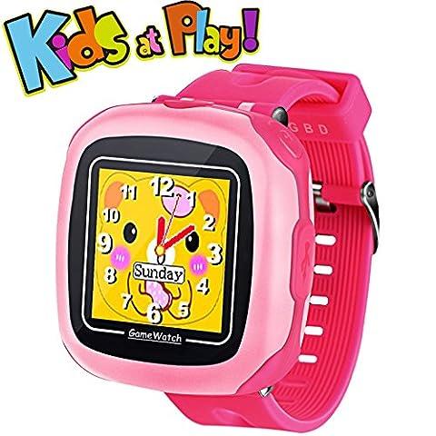 Spiel Kids Smart Watch für Kinder Mädchen Jungs mit Kamera 1.5 '' Touch 10 Spiele Schrittzähler Timer Wecker Spielzeug Smartwatch Armbanduhr Gesundheit Monitor (Zeit Spider Man Wecker)